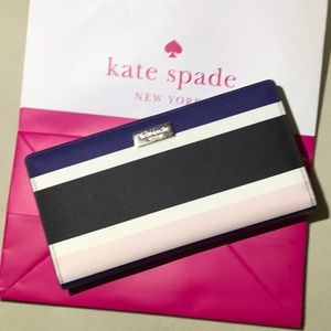 Kate Spade Leather striped Wallet